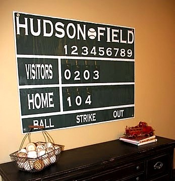 Boys Room Baseball Wall Art