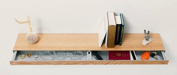 shelf plus hidden storage drawer