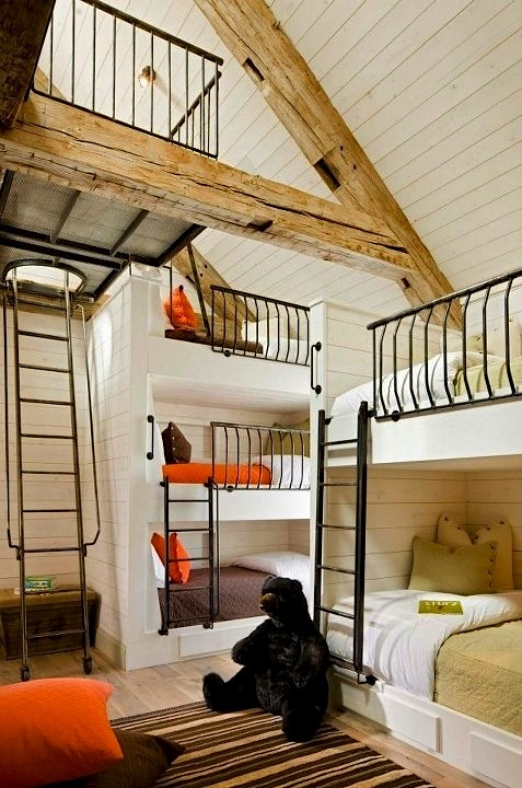 barn loft bunk room for kids