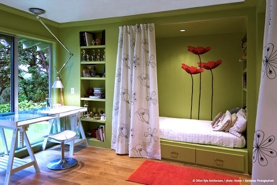 Kids 39 room color schemes jolly green kidspace interiors for Bright green bedroom ideas