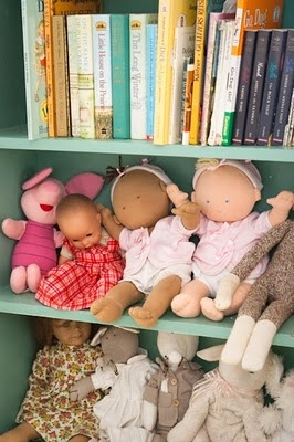 doll storage in girls room