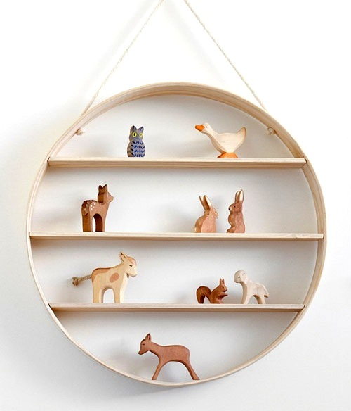 display for baby animal collection