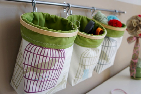 hoop top fabric baskets wall storage