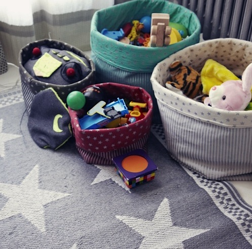 round fabric baskets for kids toys