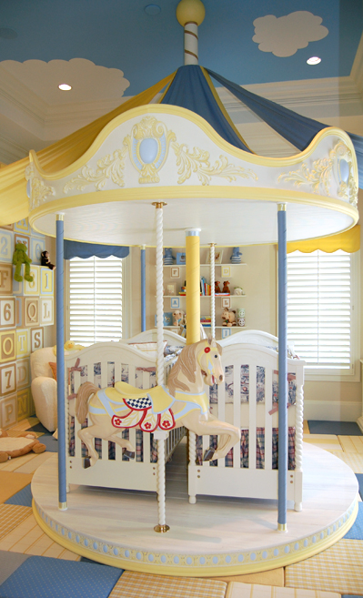 carousel bed for twin cribs