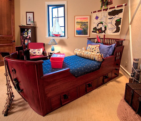 pirate ship bed for boys nautical room
