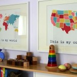 USA Maps Trendy in Kids' Rooms