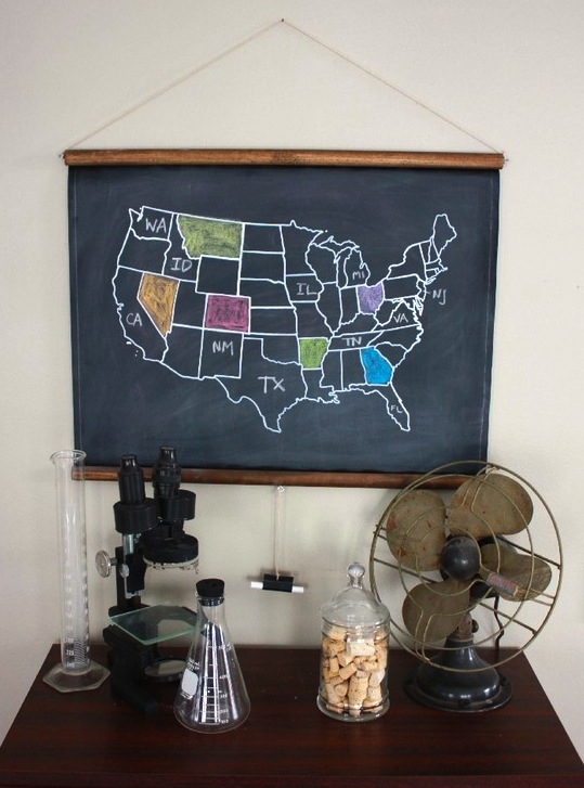 etsy chalkboard usa map