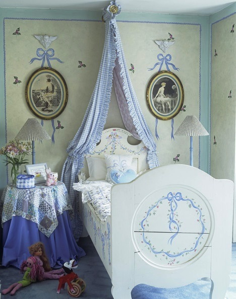 grils feminine blue bedroom