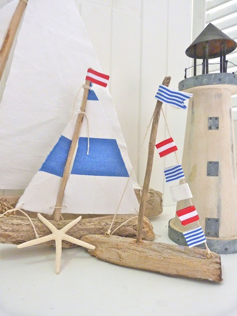 Kids 39 nautical rooms sailboats as accessories kidspace for Diy driftwood sailboat