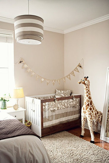 tan monotone baby nursery color scheme