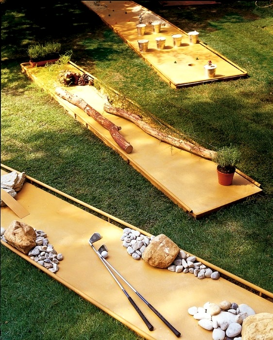 backyard mini golf for family lawn games