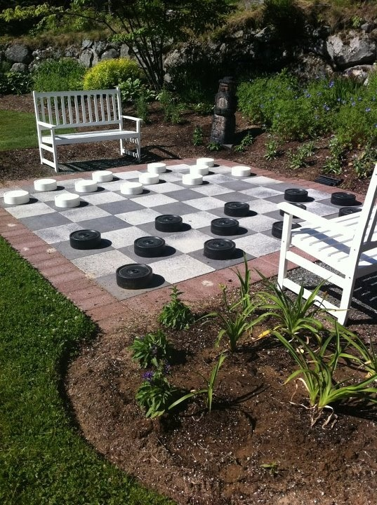 oversize outdoor checker board