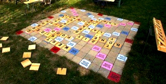 oversize outdoor scrabble game