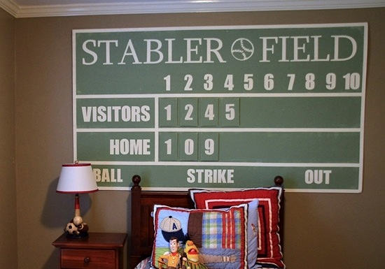 Boys Room Baseball Theme Wall Art
