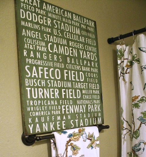 Baseball Field Name Artwork For Boys Room Art