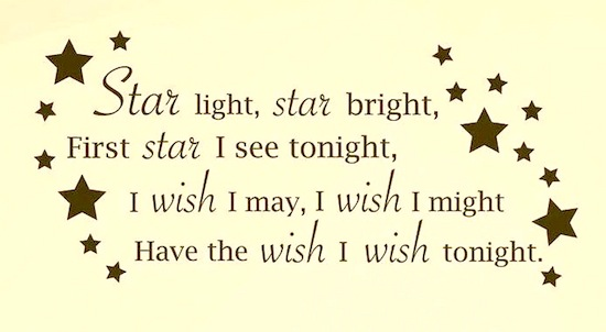 star nursery rhyme on baby nursery wall
