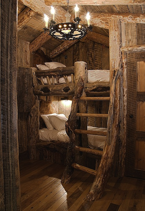 Tree House Bunk Beds For Boys Rustic Room Theme