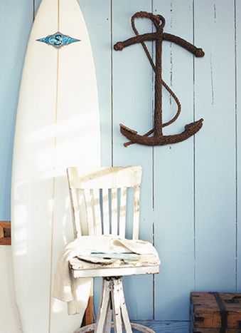 beachside blues teen room surfboard and anchor