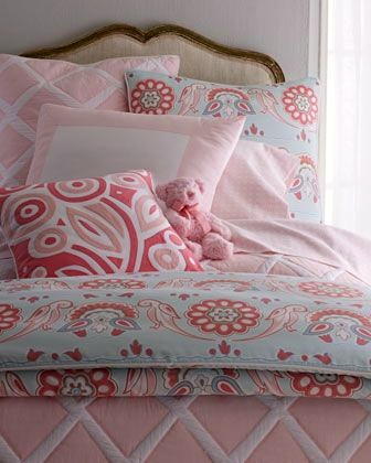 girls bedding set with 3 patterns