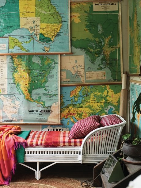 Using maps on kids 39 walls kidspace interiors nauvoo il for Wall map for kids room