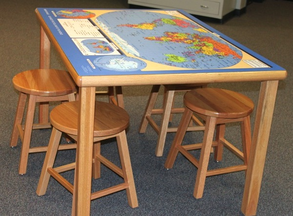 map topped table and chair set for kids room