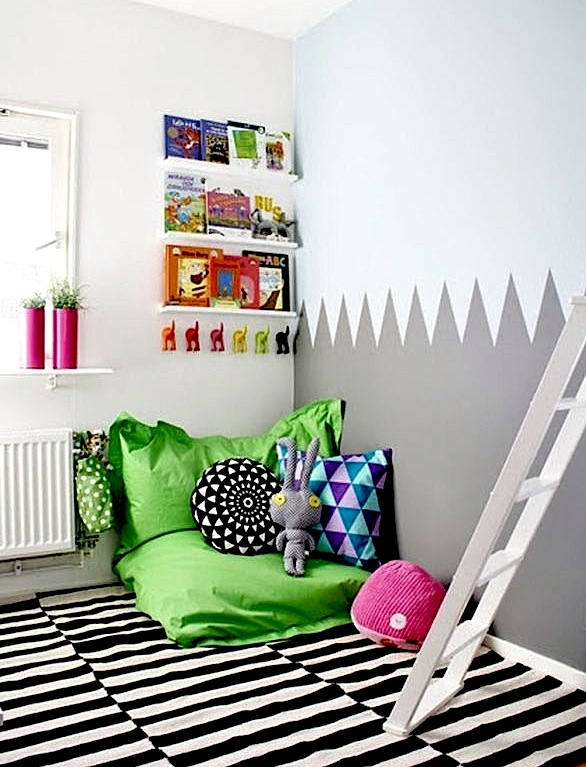 Kids cozy corners for reading reading areas kidspace for Kuschelecke im kinderzimmer