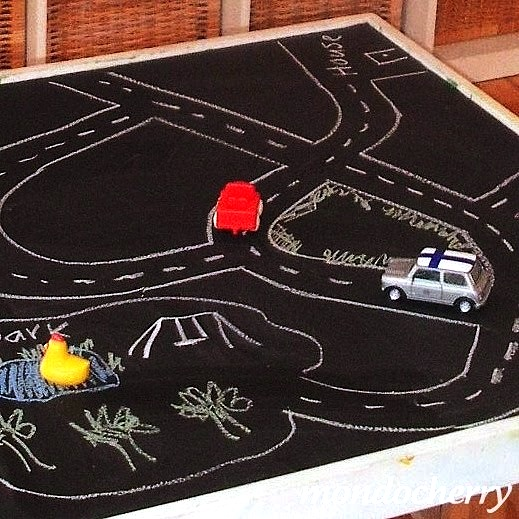 Toy Car Roads On Boys Room Walls And Floor Kidspace