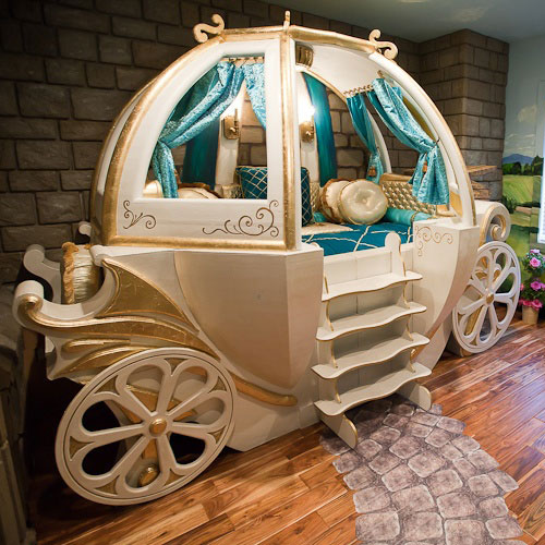 Gilded Cinderella Coach in