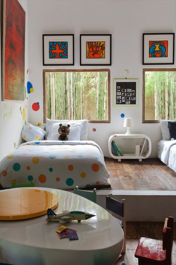 Tween room polk dots using pattern in kids 39 rooms for Dots design apartment 8