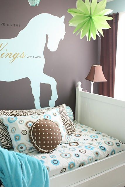 circles and dots for girls room bedding