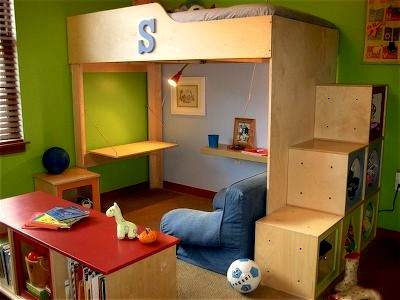 Kids 39 room loft beds study areas kidspace interiors for Kids bed with play area