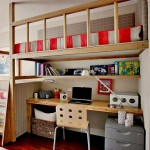 Kids' Room Loft Beds and Study Areas Below