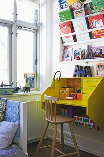 wall mounted desk for kids study area