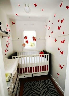 small space utilized for baby nursery