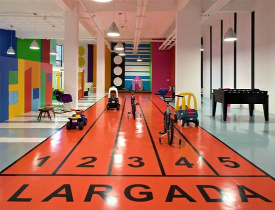 indoor track for kids playroom floor