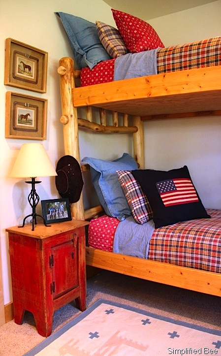 plaid bedding for teen boys bunk beds
