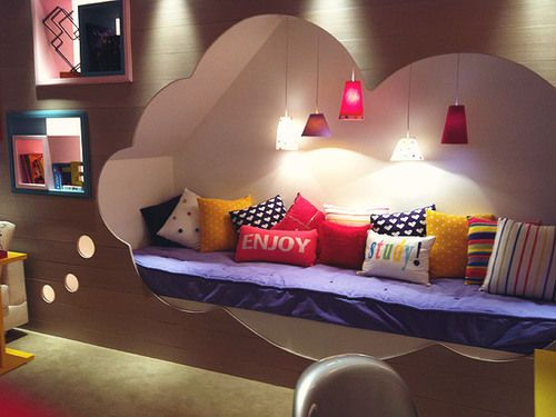 cloud shaped cut out for teen room reading retreat