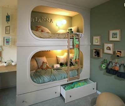 curvy cutouts for bunkbed face
