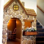 Kids' Storybook Cottage Under-Stairs Playhouse