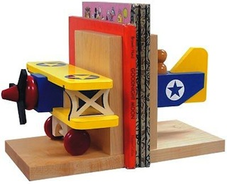 biplane bookends for kids room accessories