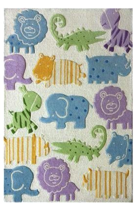 Baby Animal Print Area Rug For Nursery Floor