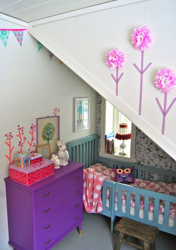toddler bedroom under the rafters