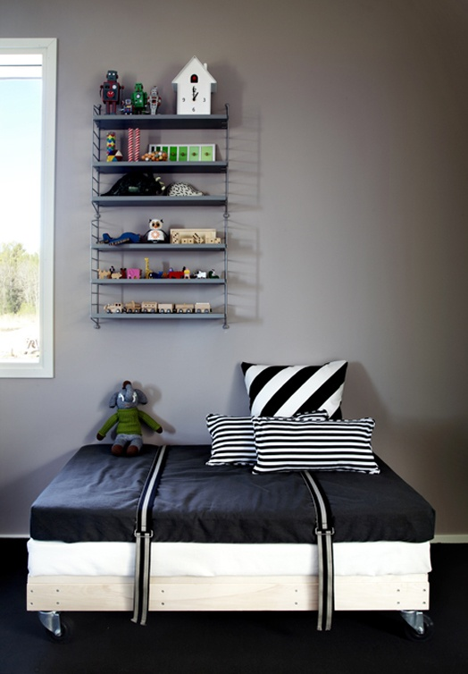 teen boys room color scheme with black gray white
