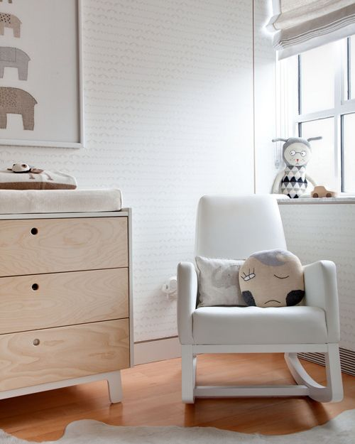 baby nursery in soft neutral color scheme