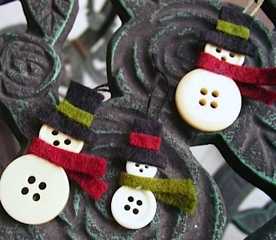 button snowmen christmas tree ornaments