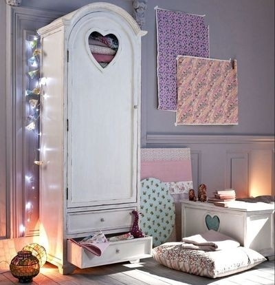 shabby chic childrens furniture. modren childrens tall armoire cabinet with heart cutout  shabby chic  in shabby chic childrens furniture