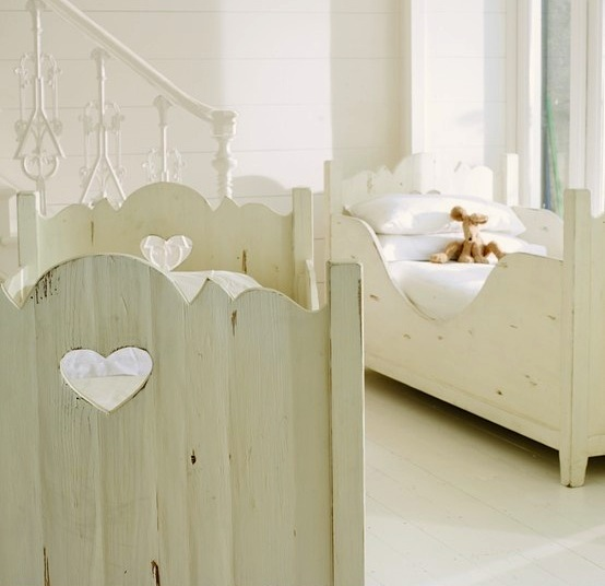 Toddler Bed With Heart Cutouts