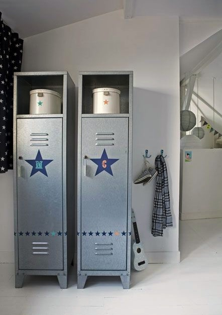 ways to use metal lockers in kids 39 rooms storage