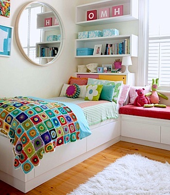 Good Tween Girls Headboard Storage With Extra Wall Shelves